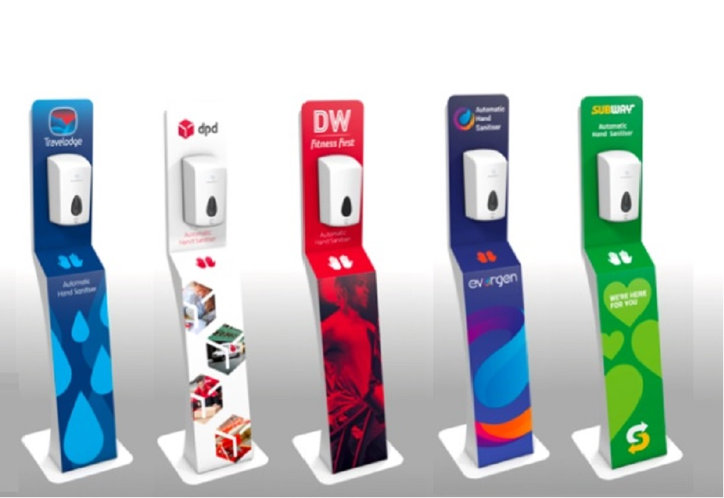 Branded sanitiser stations1043