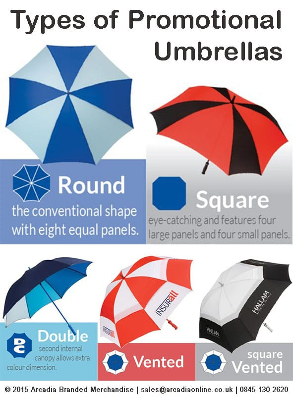 Types Of Promotional Umbrellas