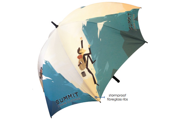 Umbrella with Stormproof Ribs