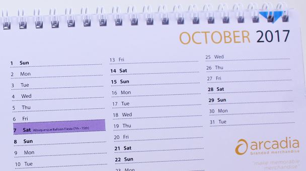 personlised calendar dates